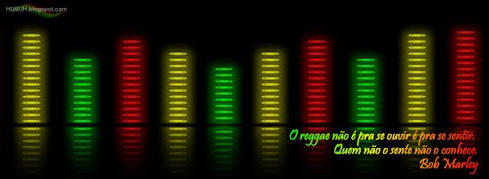 capa para facebook musica barras de volume com  frase do bob marley
