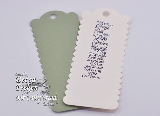 our daily bread designs stamps, Scripture Bookmarks, Becca Feeken