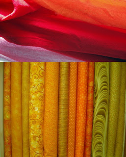 Use different kinds of fabrics with different textures, shades