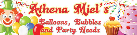 Athena Miel's Balloons, Bubbles and Party Needs