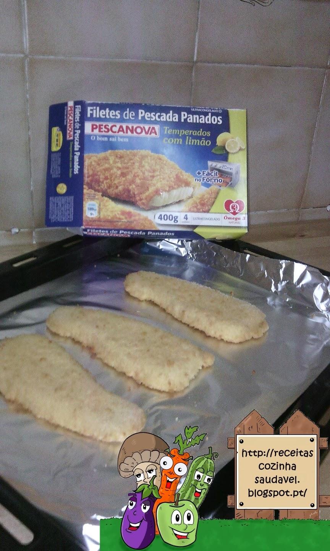 Filetes Panados com Brócolos
