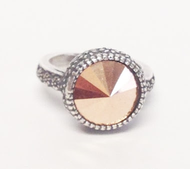 rose gold ring Macee Leigh Swarovski Collection