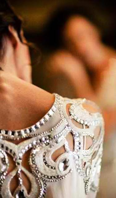 Detail fashion wedding dress