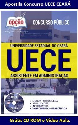 Apostila UECE-CE Universidade Estadual do Ceará - Assistente em Administração