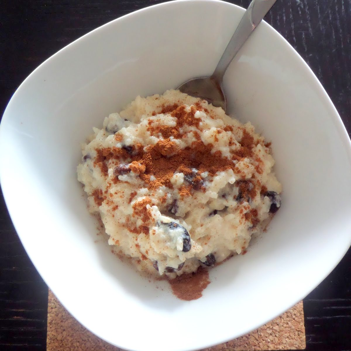 Leftover Rice Pudding:  A creamy pudding made with leftover rice, milk, sugar, and raisins.