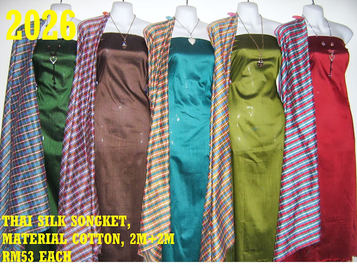 TS 2026: THAI SILK SONGKET, 2M+2M, MATERIAL COTTON, 5 COLORS