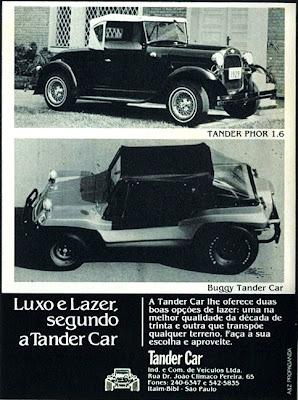 propaganda veículos Tander Car - 1979