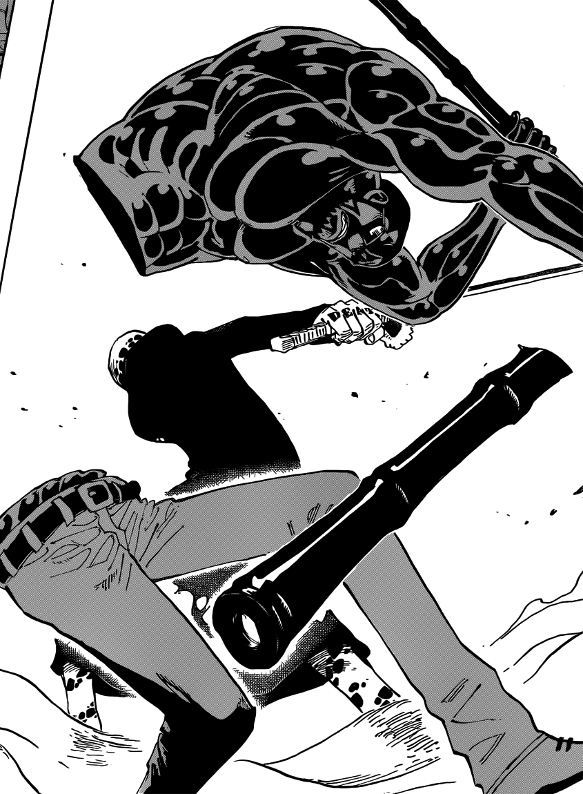 Laftel: Busoshoku haki (Armamento)