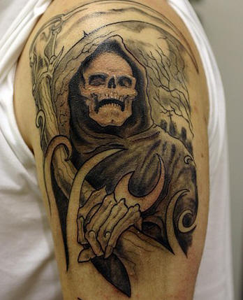 3d grim reaper tattoo artwork