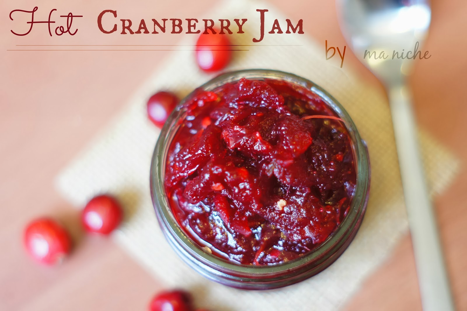Ma Niche : Red Hot Cranberry Jam