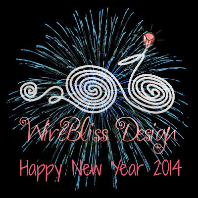 wire jewelry by wirebliss - happy new year 2014