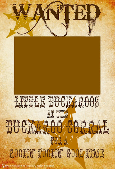 Mommy's Idea Notebook: FREE WESTERN WANTED SIGN!