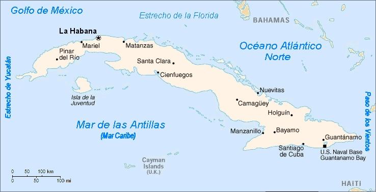 república de cuba mapa