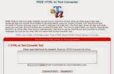Free HTML to Text Converter: permite pasar de HTML a texto plano online en forma gratuita
