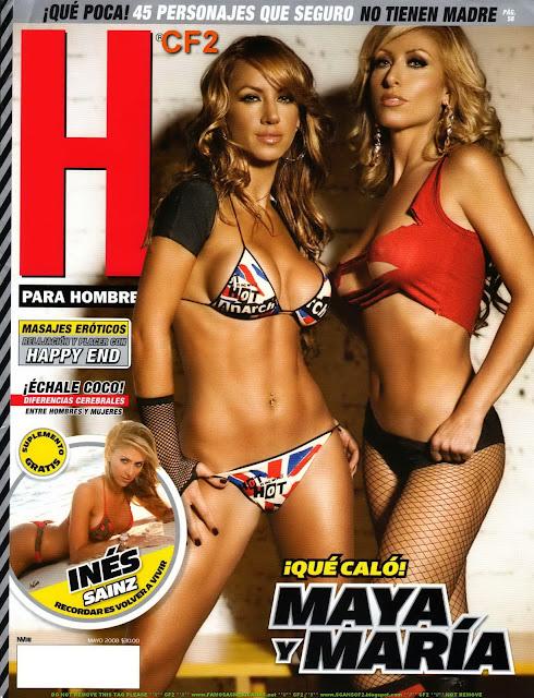 Maya y María Karuna Revista H para hombres Mayo 2008