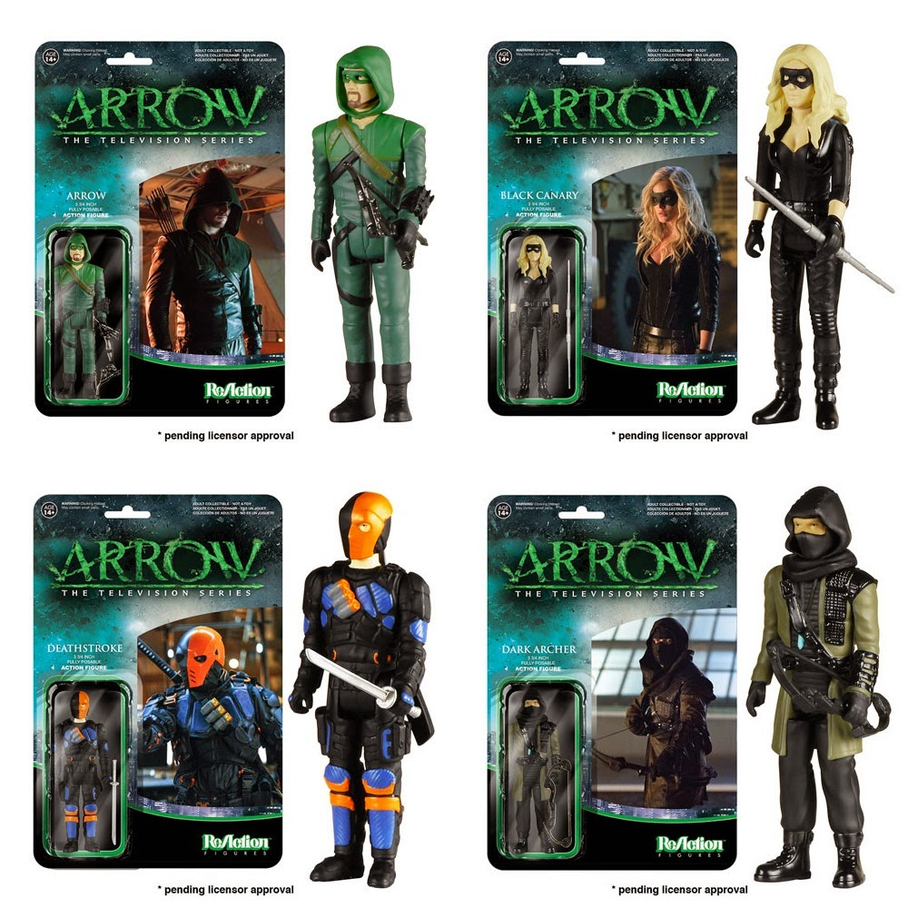Arrow ReAction Retro Action Figures by Funko & Super7 - Arrow, Black Canary, Deathstroke & Dark Archer