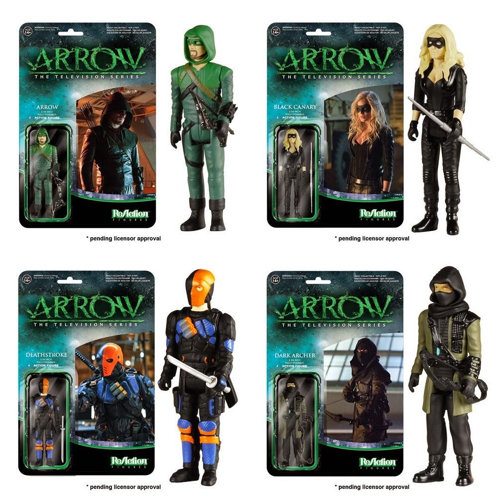 Arrow ReAction Retro Action Figures by Funko & Super7 - Arrow, Black Canary, Deathstroke & Dark Archer