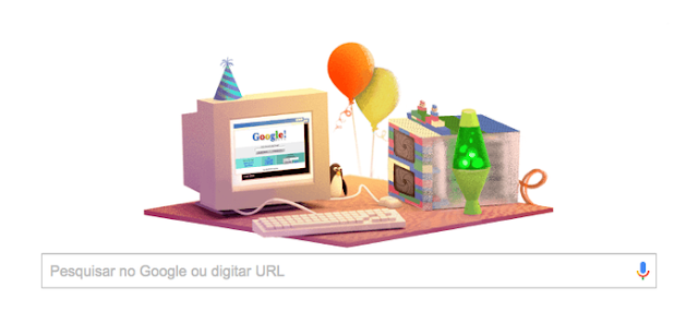 Google comemora seu 17º aniversário com Doodle - News Of The World