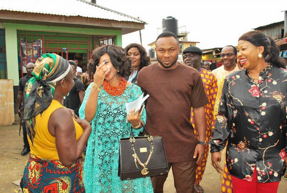 tonto dikeh is pregnant and has engagement ceremony in
