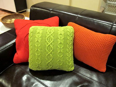 DIY sweater pillows