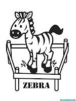 Mewarnai Gambar Anak Zebra