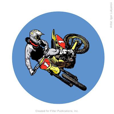 dessin motocross