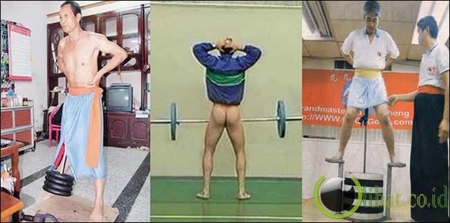 Kemaluan bisa angkat beban hingga 230 kg