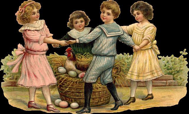 Forgetmenot easter vintage children - Vintage bilder kostenlos ...