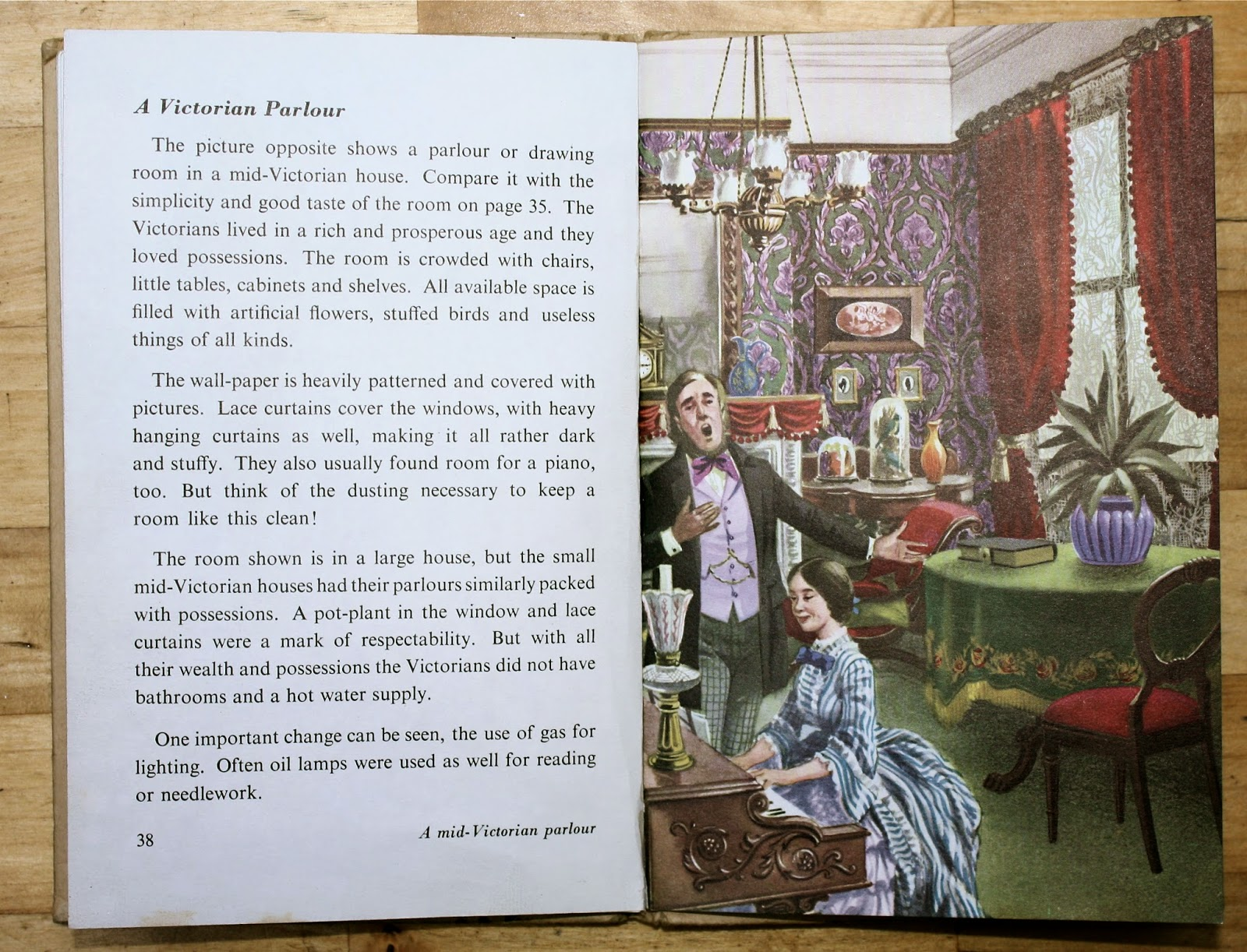 Victorian Parlour Ladybird Book - The Story of Houses & Homes