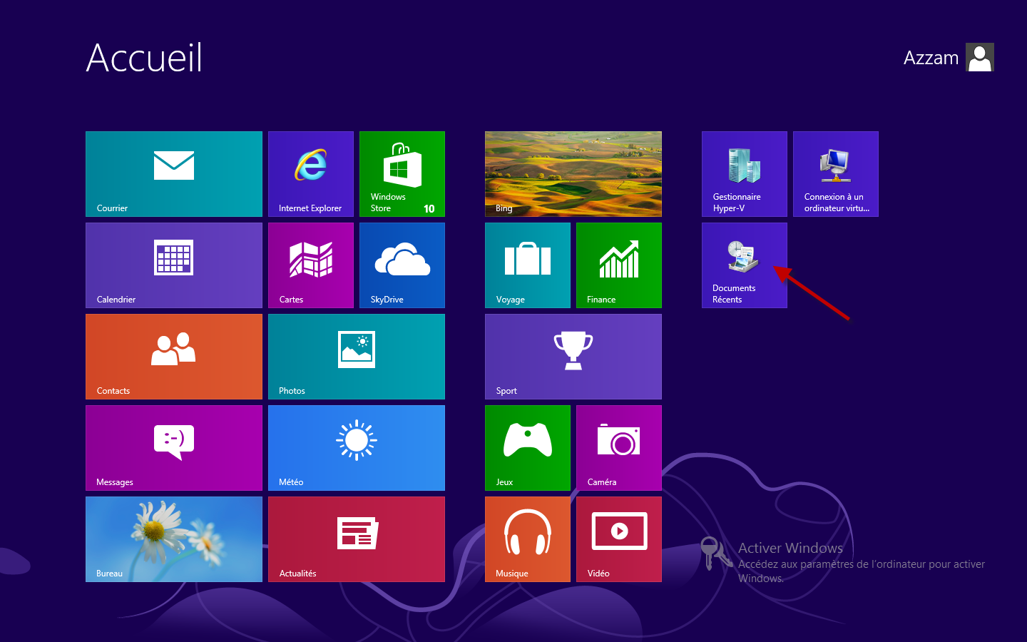 Comment afficher le bureau sous windows 8 for Bureau windows 8
