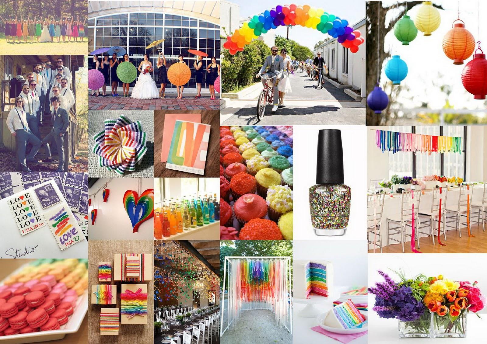 Matrimonio Tema Arcobaleno : Spunto per tema matrimonio l arcobaleno pagina
