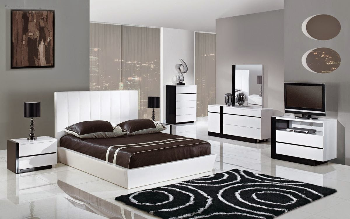 Chambre noire id es d co moderne for Black and white vintage bedroom ideas