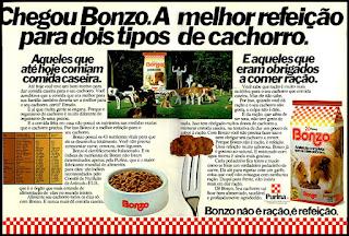 propaganda ração Bonzo - 1978; os anos 70; propaganda na década de 70; Brazil in the 70s, história anos 70; Oswaldo Hernandez;