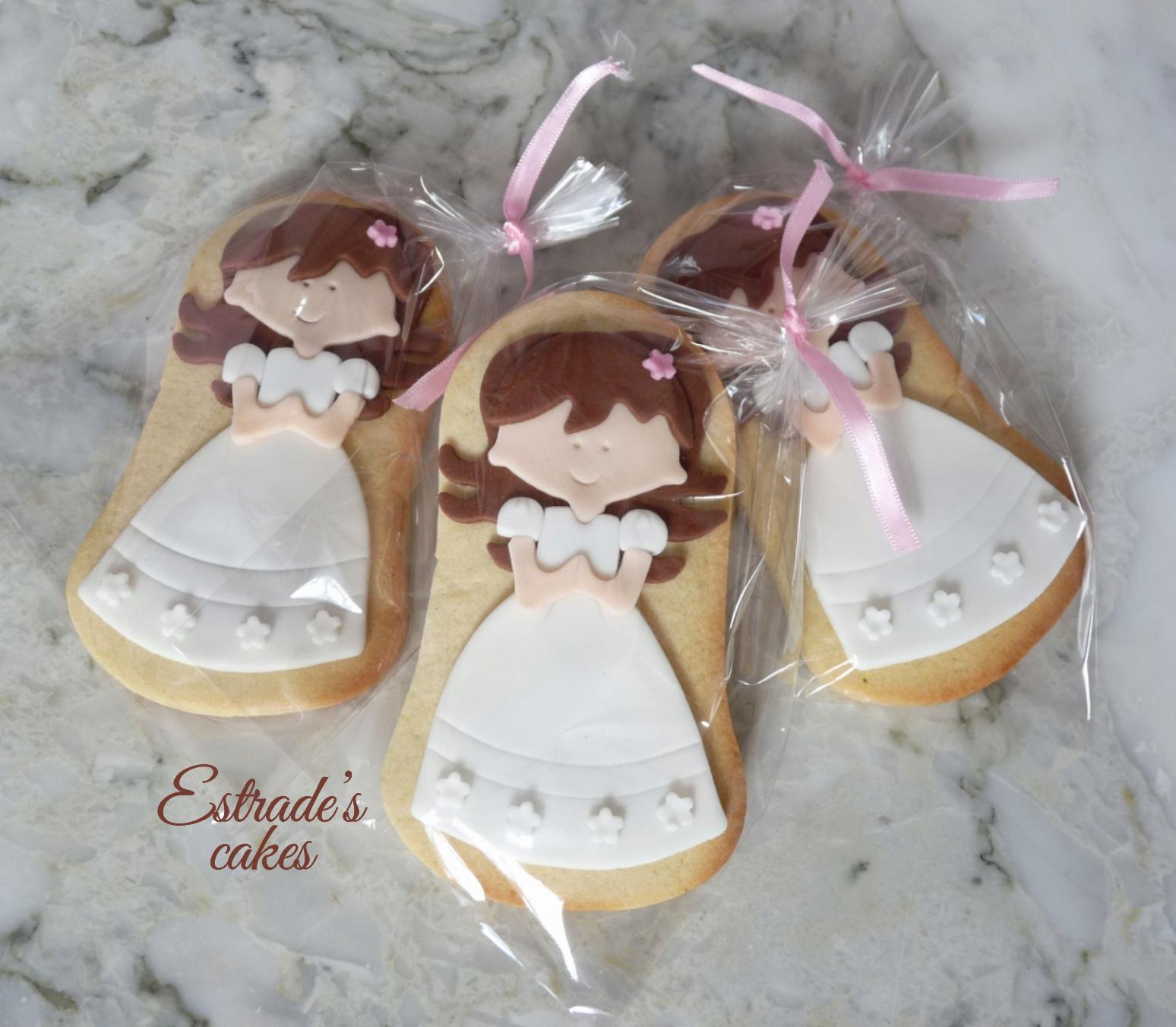 galleta de niña de Comunión morena-5