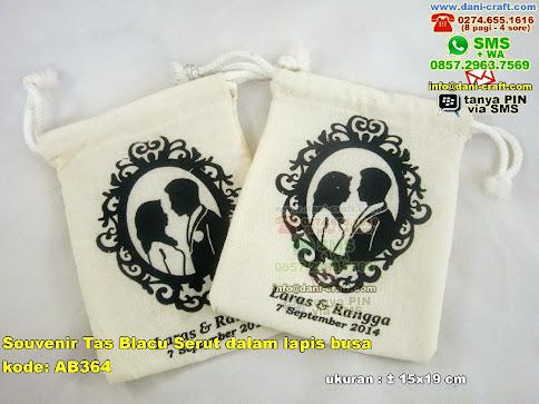 Souvenir Tas Blacu Serut Dalam Lapis Busa