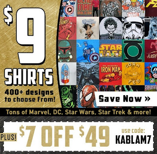 Click here to purchase $9 t-shirts at SuperHeroStuff!