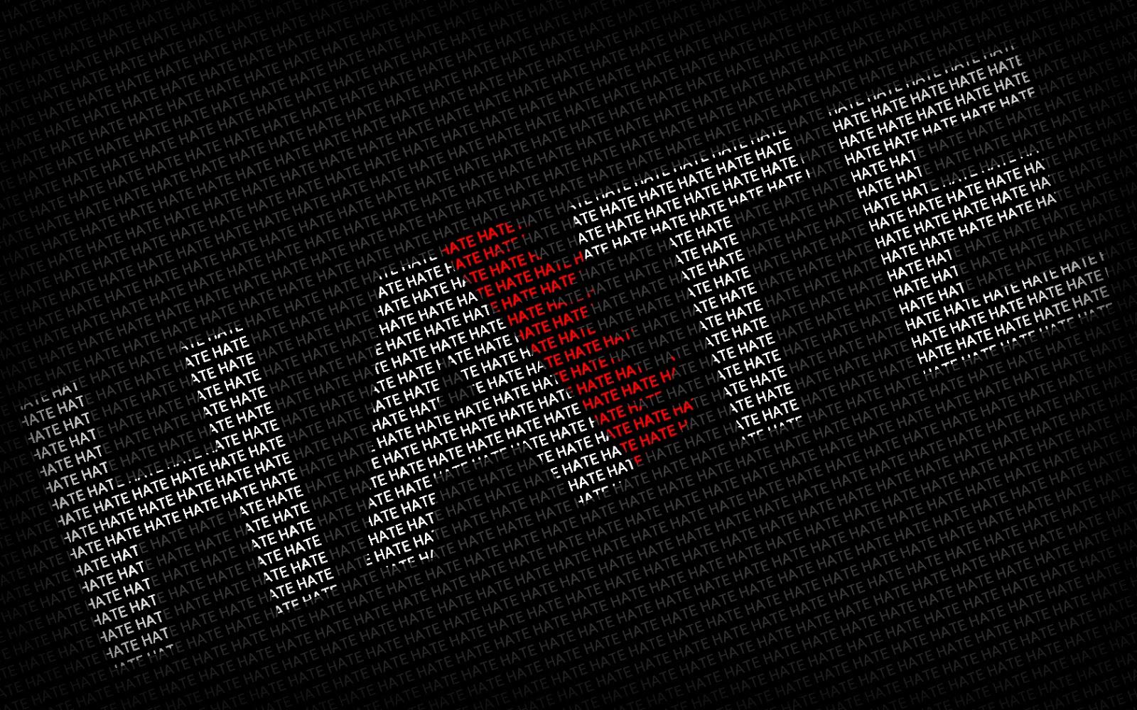 Desktop wallpaper hate text typographic hd desktop wallpaper