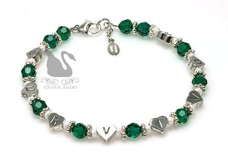Organ Transplant Awareness Survivor Heart Beaded Bracelet (B173)