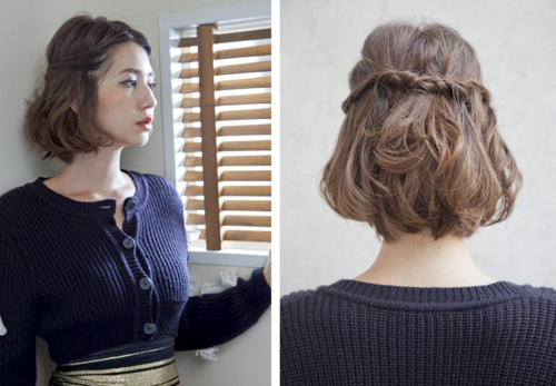 Ideide Tutorial Rambut Pendek Menawan Model Rambut Dan Gaya - Hairstyle rambut pendek ke pesta