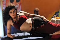 Bollywood and Tollywood acress Archana Veda, hot sexy, neval show, red dress, sizzling, masala
