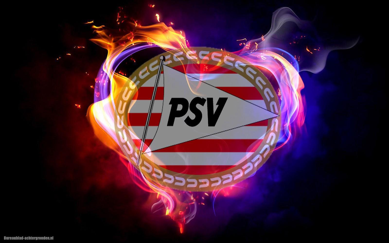 Voetbalclub Psv Wallpaper Met Vuur Mooie Leuke
