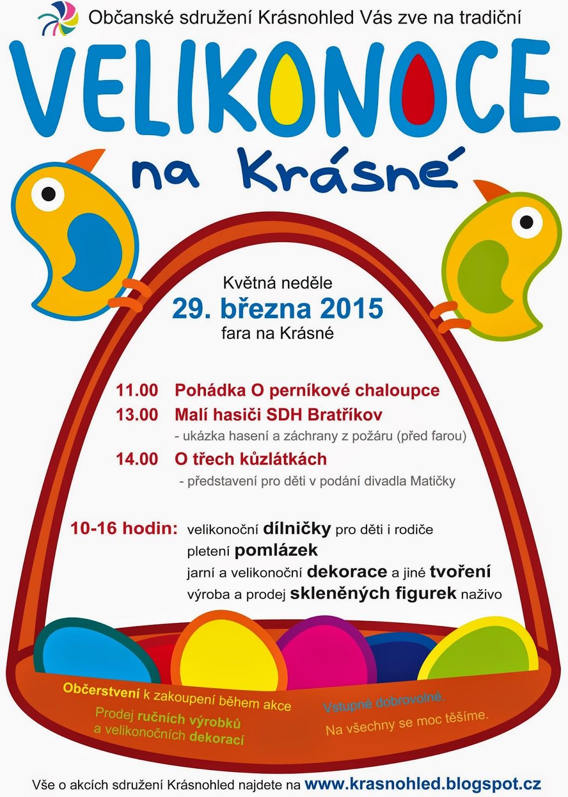 Velikonoce na Krásné, neděle 29. března 2015, plakát