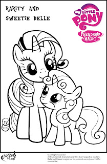 mlp rarity and sweetie belle coloring pages