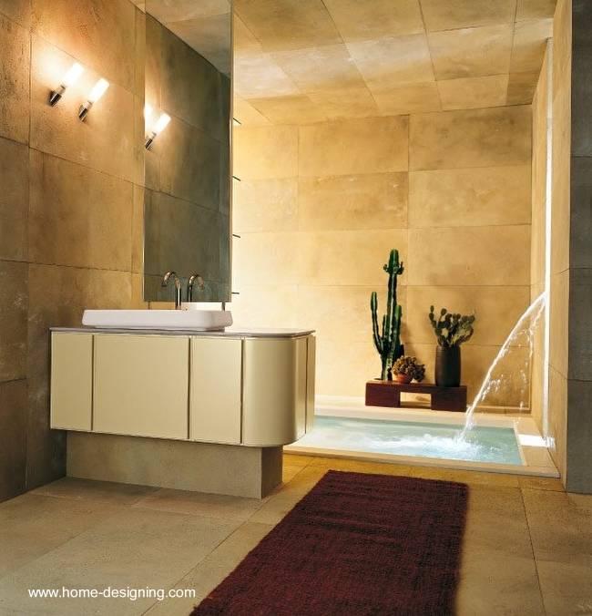 Baños Lujosos Imagenes:Un baño de la nueva tendencia, espacioso, con mini-piscina y acceso a