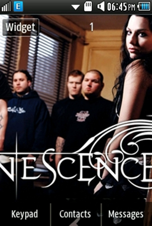 Other Evanescence Band Samsung Corby 2 Theme Wallpaper