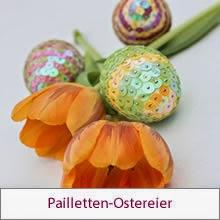Pailletten-Ostereier