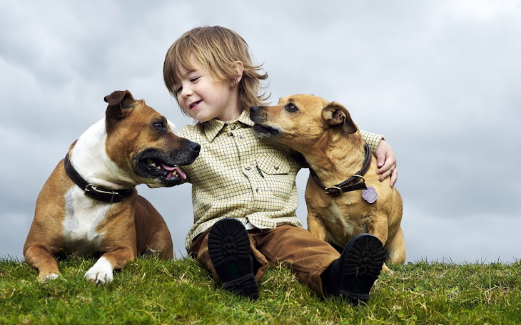 Happy Children with Pets