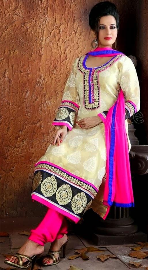 Punjabi Suits Neck Designs Party Wear Design Boutique 2014 Photos Images Pics Punjabi Suits ...
