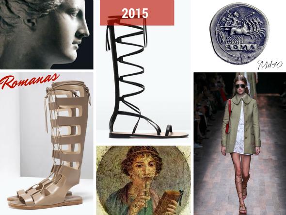 zapatos y sandalias primavera  verano 2015 tendencias romanas