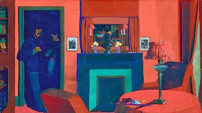 Félix Valloton - La chambre rouge,1898.